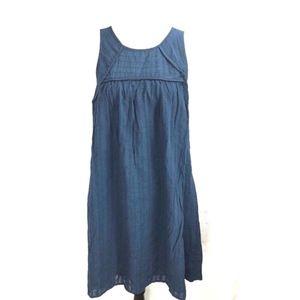 Liz Lange Maternity Striped Gauze Dress Blue Sz M